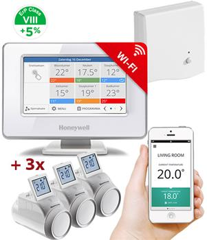 Honeywell Evohome Starter Set 3 CZ, Evohome Touch WiFi + 3x termohlavice + BDR91