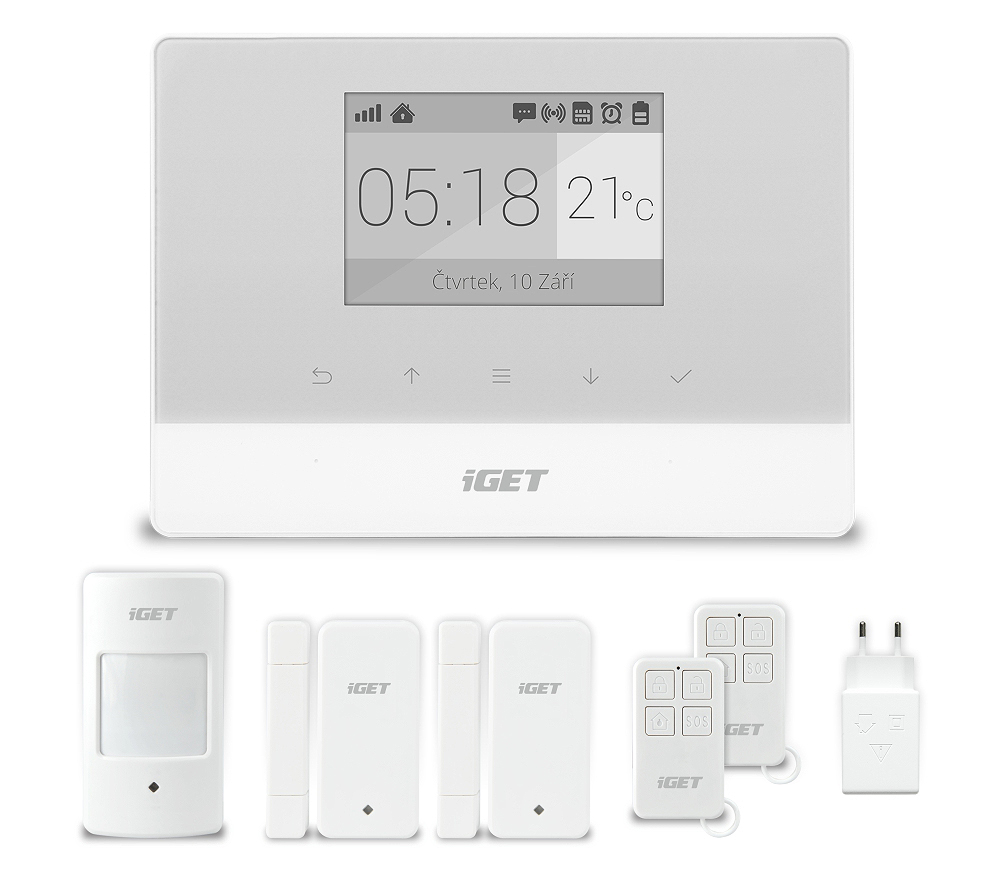 Domovní GSM Alarm, set - iGET SECURITY M3